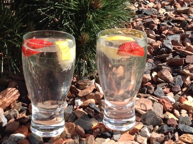 water-citroen-aardbei